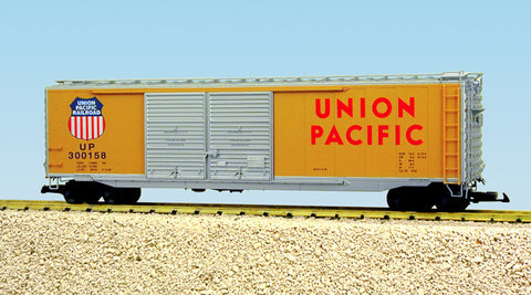 USA Trains R19301B G Union Pacific 50 Ft. Box Car with AAR Double Door (Yellow)