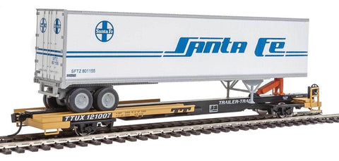 Walthers 910-5018 HO TTUX 50' Front Runner RTR #121007 with Santa Fe 45' Trailer #801155