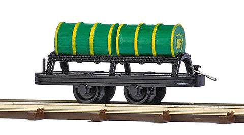 Busch 12238 HO Wagon with 2 Oil Barrels