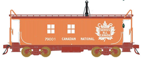 True Line Trains 301216 HO Canadian National Wood Transfer Van #79001,79004