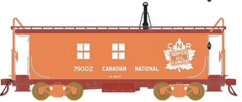 True Line Trains 301219 HO Canadian National Wood Transfer Van #79002,79005