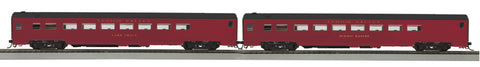 MTH 80-60047 HO Lehigh Valley 2-Car Smooth-Side Passenger Car Set