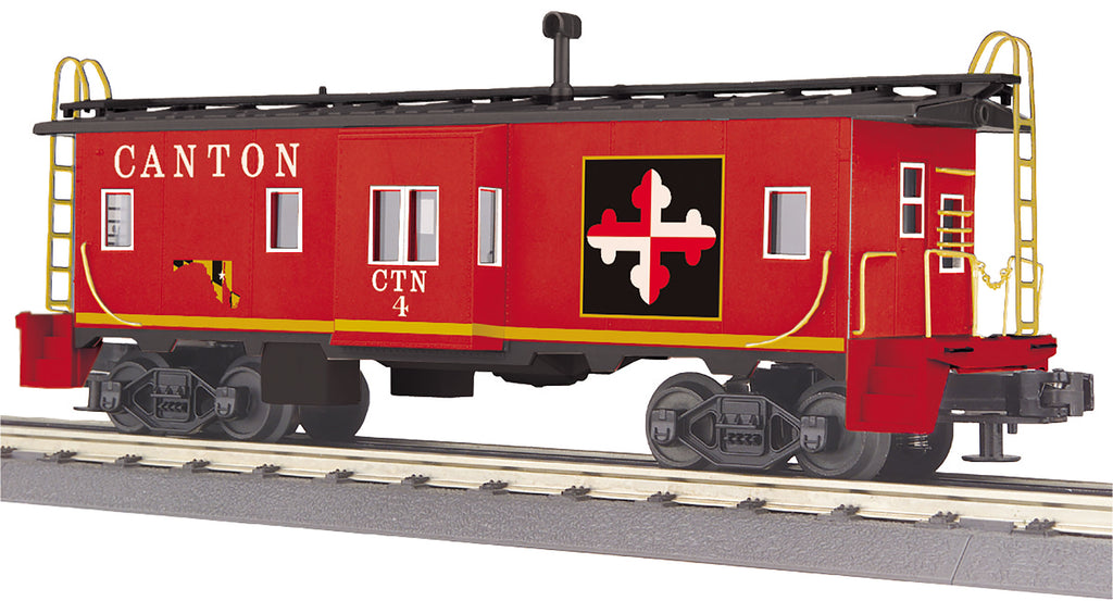 MTH 30-77315 O27 Canton Bay Window Caboose