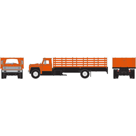 Athearn 25998 HO Ford F-850 Stakebed Truck Ready-To-Run (Orange)
