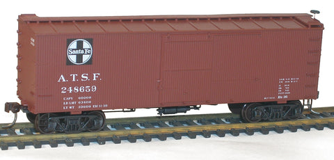 Accurail 8097 HO Santa Fe 36' DS Wood Boxcars Set (3)