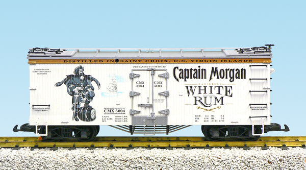 USA Trains R16474 G Captain Morgan White Rum Refrigerator Car (White/Silver)