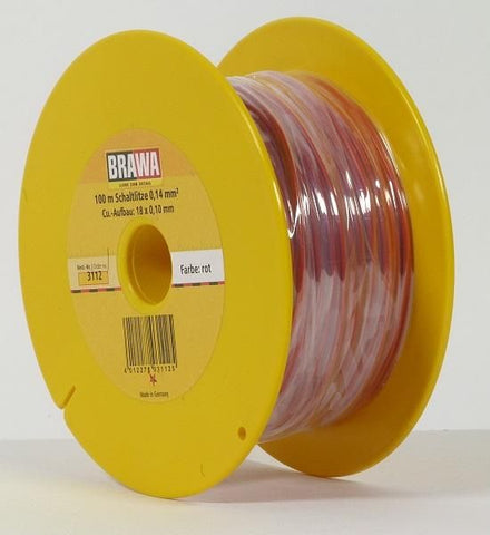Brawa 3112 328' Solid Strand Copper Wire Red