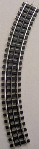 "Gargraves 42-101S O 3 Rail Phantom Tinplate 42"" Curve Plastc Tie Sectional Track"
