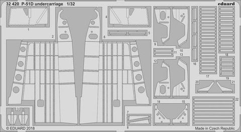 Eduard 32420 1:32 Aircraft- P51D Undercarriage for Revel
