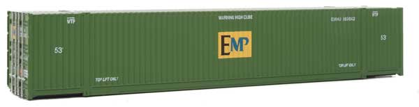 Walthers 949-8530 HO EMP 53' Singamas Corrugated-Side Container - Assembled