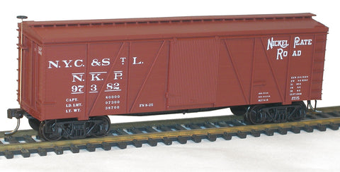 Accurail 1153 HO Nickel Plate Road 36' Fowler Wood Boxcar #97382