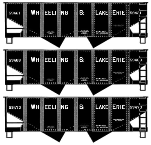 Accurail 25844 HO Wheeling & Lake Erie USRA Twin Hopper Set (3)
