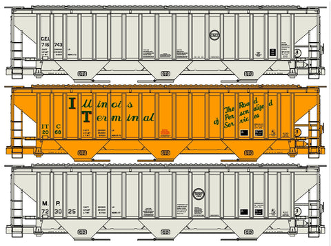 Accurail 8099 HO Pullman Standard Covered Hoppers Set (3)