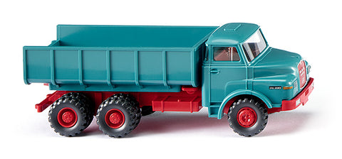 Wiking 064502 HO Dump Truck (MAN) - Blue/Red