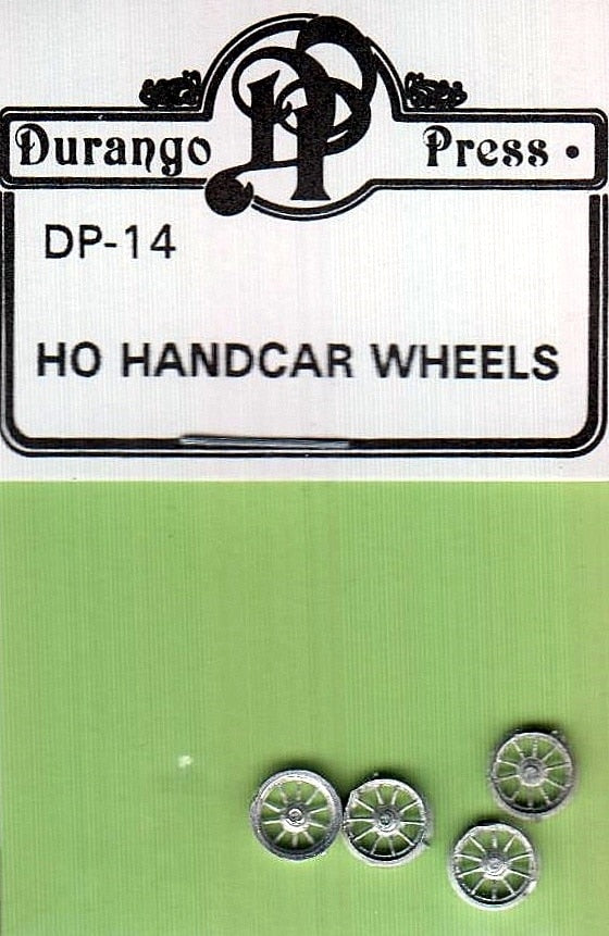 Durango Press 14 HO Hand Car Wheels (4)