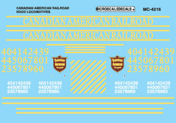 Microscale 60-4216 N Canadian American Hood Locomotives,1996+
