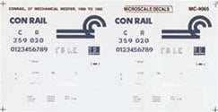 Microscale 60-4065 N Conrail 57' Mechanical Reefer - Decals