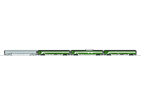 "Lionel 6-84045 O Burlington Northern 21"" Passenger Cars Pack (4)"