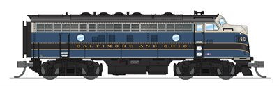 Broadway Limited 3520 N Baltimore & Ohio EMD F7A Diesel Locomotive #182A