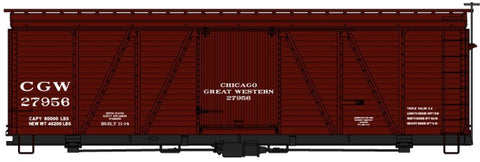 Accurail 1157 HO Chicago Great Western 36' Fowler Wood Boxcar Kit