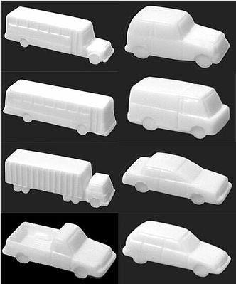 JTT Scenery Products 97004 N Unpainted Vehicle Assortment