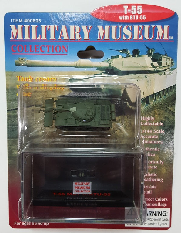 Pegasus Hobby 605 1:144 T55 Finland Tank with BTU55 Assembled