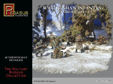 Pegasus Hobby 7271 1:72 WWII Russian Infantry in Greatcoats