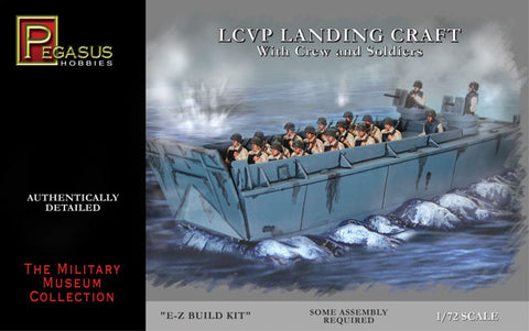 Pegasus Hobby 7650 1:72 LCVP Landing Craft with Soldiers