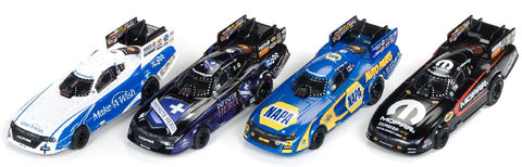 Auto World 337 HO 4-Gear NHRA Funny Car Slot Car Assortment - Series #21 (12 Total)