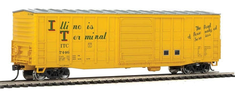 Walthers 910-2327 HO Illinois Terminal 50' Waffle-Side Boxcar Ready-To-Run #7446