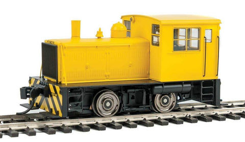 Walthers 910-10013 HO Unlettered Yellow Plymouth ML-8 Industrial Switcher with Stripes