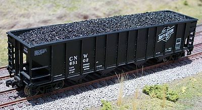 Motrak Models 81702 HO Coal Loads for Walthers 100 Ton Quad Hopper (2)