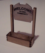 Osborn Model Kits 1021 HO Welcome Sign (2)