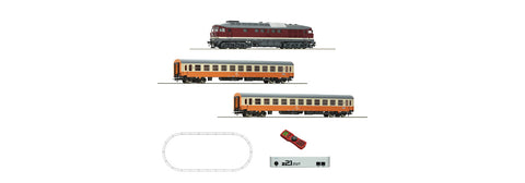 Roco 51301 HO DR Digital z21® Start Set: Diesel Loco Class 132 and Passenger