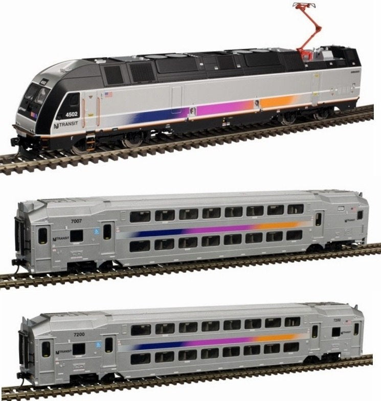 Atlas 80000004 HO NJ Transit Modern Commuter Train Set (3)