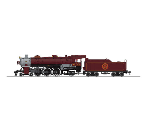 Broadway Limited 5601 HO Chicago & Alton Light Pacific 4-6-2 Tuscan Scheme #657