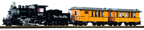Piko 38111 G Denver & Rio Grande Passenger Starter Set with Sound 120V