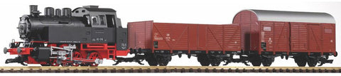 Piko 38120 G Deutsche Bahn BR80 Freight Start Set with Sound 120V