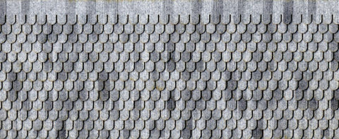 Northeastern Scale Lumber HOSHG5B1 HO RF Shingle/Gray Fishscale - 1/Bag