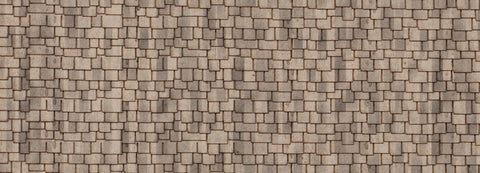 Northeastern Scale Lumber HOSHG2B1 HO RF Shingle - Sand Wood Shake