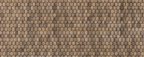 Northeastern Scale Lumber HOSHG4B1 HO RF Shingle - Sand Fish Scale