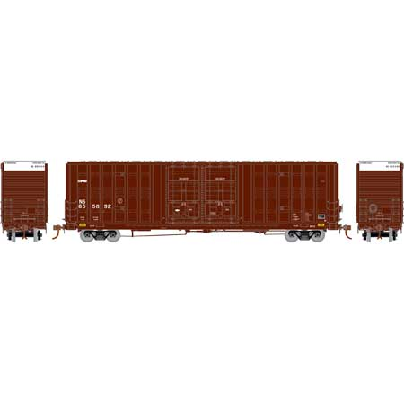 Athearn 75097 HO Norfolk Southern 60' Berwick Hi-Cube Box Ready-To-Run #655888