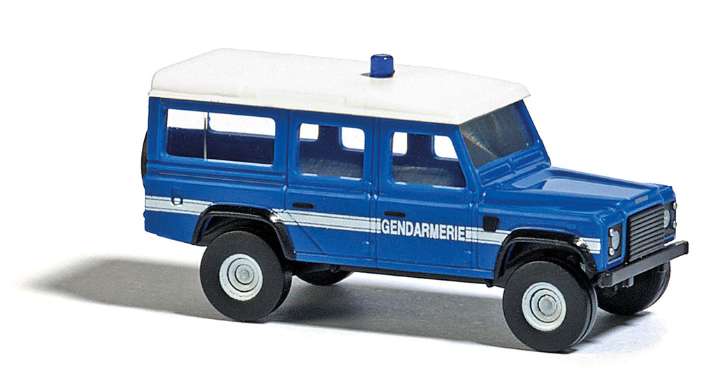 Busch 8378 N Land Rover Police (blue, white, French Lettering)