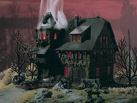 Vollmer 47679 N Vampire Villa Haunted Mansion with Flickering Light