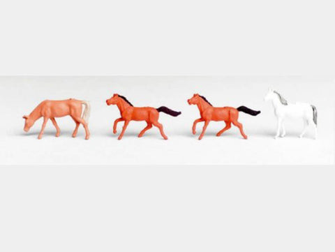 Vollmer 42289 N Horses (3 Brown and 1 White)