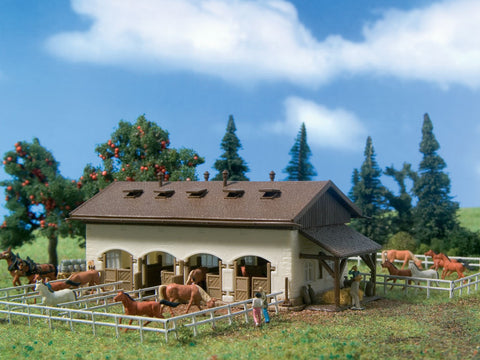 Vollmer 47719 N Horse Paddock with Horses Kit