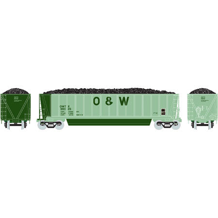 Athearn 29133 HO Oneida & Western RTR Bathtub Gondola with Coal Load #99026