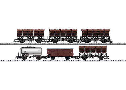 Trix 24094 HO German Federal Railroad (DB) Freight Cars of Different Types (6)