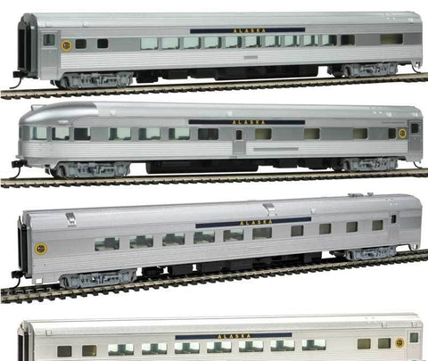 Walthers 910-B30010 HO Alaska Railroad Streamlined Passenger Set (4)