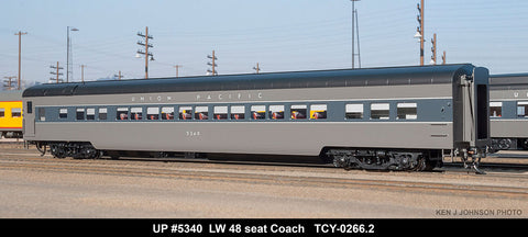 The Coach Yard 266.2 HO Union Pacific LW 48 Seat Chair, ttg P-3- 5331, 40, 45
